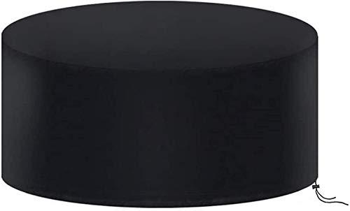 ZFmj Funda para Muebles De Jardín,Copertura Impermeable para Mesas Rectangular,Cubierta De Exterior Funda Protectora Muebles Mesas Sillas Sofás Exterior (Color : Redondas, Size : 185 * 110cm)