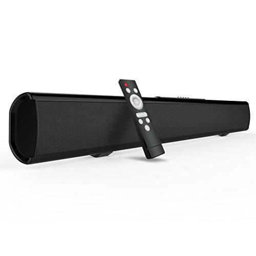 [2019 actualizado] Barra de Sonido de TV, Meidong Barra de Sonido con Cable y Altavoz inalámbrico Bluetooth para TV, proyector (43 Pulgadas, 60W, Cable óptico Incluido, DSP, Salida AUX/RCA, Remoto)