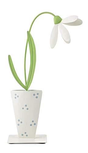 baden import Blume I Metall Blume I Weiss grün I Höhe 48 cm I Osterdeko Ostern Osterfigur Osterschmuck Dekofigur Tischdeko Frühling
