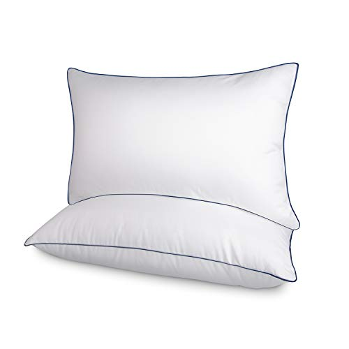 FAPO Bed Pillow for Sleeping (2-Pack), Ultra Soft Premium Plush Fiber Fill Bed Pillows, Cover Skin-Friendly & Hypoallergenic, Comfy and Soft Pillows (Queen Size)