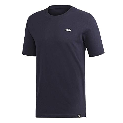adidas Originals Men's Superstar Emblem T-Shirt, Graphic T-Shirt (Shorts Sleeve), Legend Ink, S