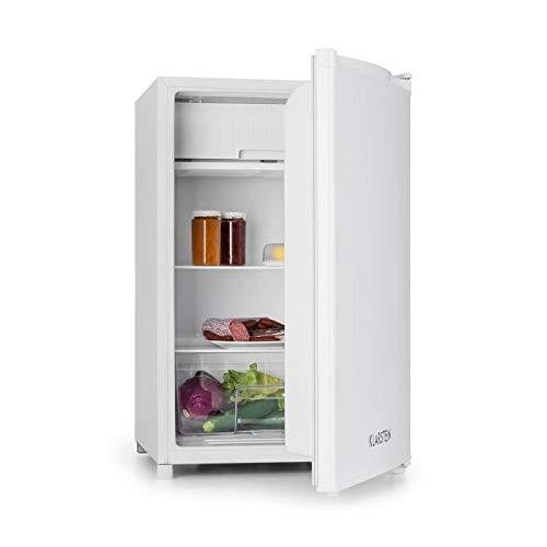 Klarstein KS126F Modern Edition Kühlschrank Standkühlschrank (120 Liter, 2 x Regalablage, 3 x Türfach, 12 Liter Eisfach, 67 Watt, regelbare Temperatur, 39 dB leise) weiß