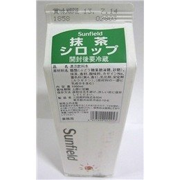 三田飲料『抹茶シロップ』