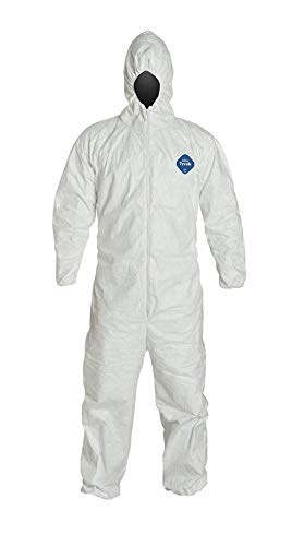 Tyvek Disposable Coveralls With Hood - TYVEK COVERALL WITH HOOD - X-LARGE