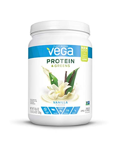 Vega Protein & Greens Vanilla (18 Servings, 1.16 lb) - Plant Based Protein Powder, Keto-Friendly, Gluten Free,  Non Dairy, Vegan, Non Soy, Non GMO - (Packaging may vary)