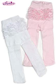 """STOCKINGS fits 15/"""" /& 18/"""" AMERICAN GIRL Doll Clothes WHITE Doll TIGHTS"""