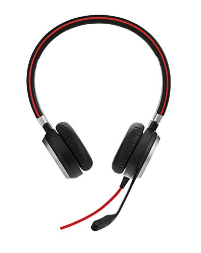 Jabra Evolve 40 Stereo-Headset mit 3,5-mm-Klinkenstecker (ohne USB-Controller), optimiert für Unified Communications