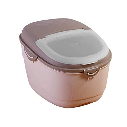 UNU_YAN Modern Simplicity Food Containers Rice Storage Box 10Kg Plastic Kitchen Grain Storage Container Seal Moisture Proof Cereal Containers Food Storage (Size : 38 * 29 * 32Cm)