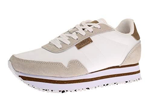 Woden WL1750 Nora - Damen Schuhe Sneaker - 100-ribbon-red, Weiß, 39 EU