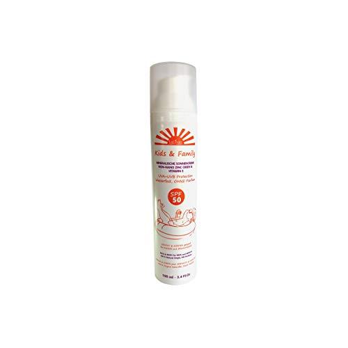 LaLinda Kids & Family Naturkosmetik Sonnencreme SPF 50 Non-nano Mineralischer Sonnenschutz, 100 ml parfümfrei