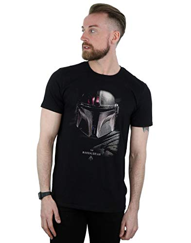Star Wars Hombre The Mandalorian Poster Camiseta Negro XXXXX-Large