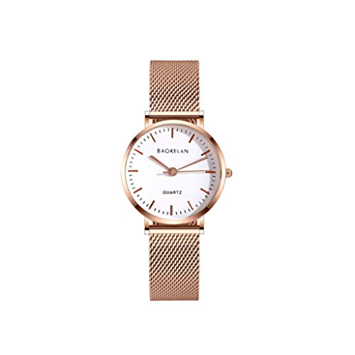 Beobachten ungezwungene Atmosphäre Gezeiten Uhr Damen Student wasserdichtes Paar weibliche Uhr ultradünne männliche Uhrquarz (Color : Metallic)