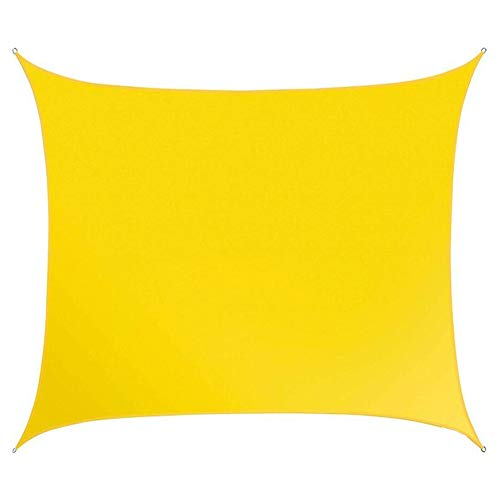 SOULOS Garten Wasserdicht Sonnensegel, Windschutz Sonnenschutz Atmungsaktiv 95% Abschattungsrate Unisex Grillplatz Innenhof 2x3m(6.5x10ft) Gelb Rechteck Sonnensegel Baldachin,2x2