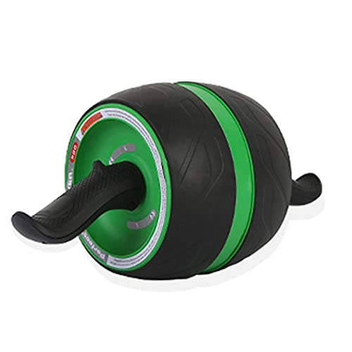 Ab Roller Wheel, Rueda Abdominales Fitness AB Roller Rodillo Rueda Rebote Automático con Rodillera Para Equipo De Ejercicio AB Inferior Entrenamiento Básico De Gimnasio En Casa Mujeres Y Hombres,Verde