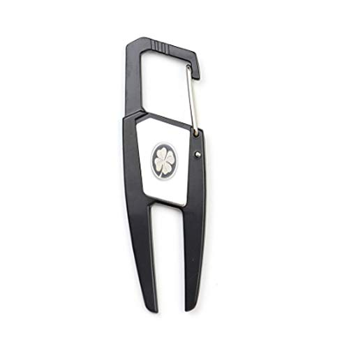 IKAAR Herramienta y marcador de golf de metal para reparación de golf con clip que se fija a tu bolsa de golf, color negro