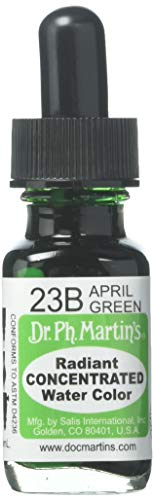 Dr. Ph. Martin's Radiant Concentrated Water Color, 0.5 oz, April Green (23B)
