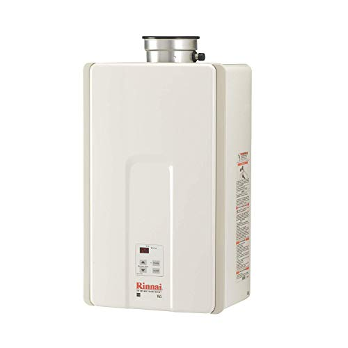 Rinnai V Series HE Tankless Hot Water Heater: Indoor Installation - V65IN, Natural Gas/6.5 GPM, Large