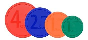 Pyrex MIXING BOWL LID Set   1  326-PC Red  1  325-PC Blue  1  323-PC Orange  1  322-PC Green