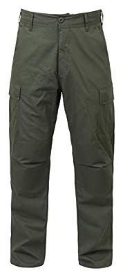 "Rothco Rip-Stop BDU Pants, Olive Drab, XL - Long (39""-43"" Waist / 32 1/2"" - 35 1/2"" Length)"