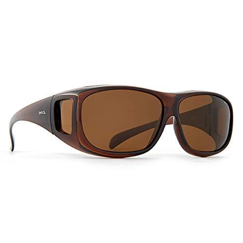 INVU Unisex Polarisierte Sonnenbrille EasyFit E2402 Braun (E2402B), Linse Braun