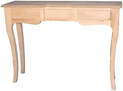 Versa - Mesa entrada o recibidor 3 cajones Marsala, madera ...