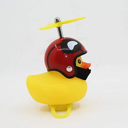 CandyTT Caricatura Little Yellow Duck Bike Bells Adecuado para Bicicleta Plegable MTB Bocina de Bicicleta Sonido Fuerte Accesorios de Bicicleta Anillo de Campana (Casco yellowHeart)