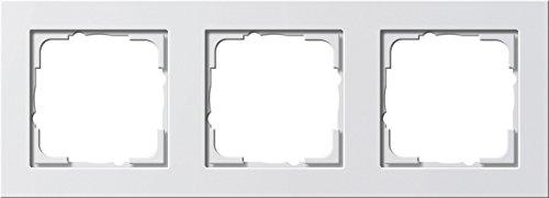 Gira 21322 Rahmen E2 3-fach reinweiß seidenmatt, 021322