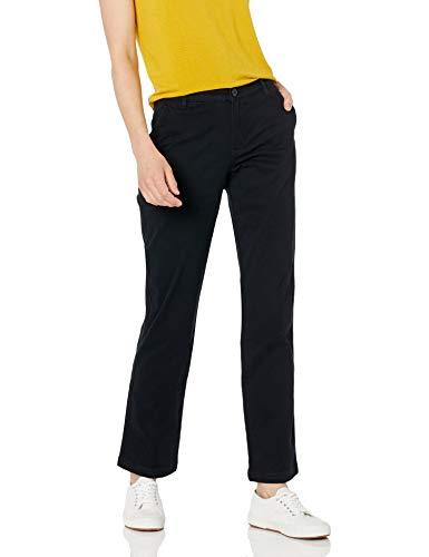 Amazon Essentials Curvy Fit Full Length Straight Leg Chino Pant Hose, Schwarz, 38-40