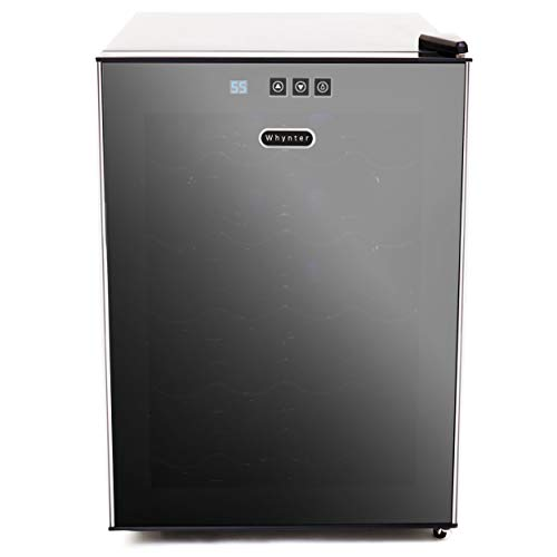 Whynter 20 Bottle Thermoelectric Wine Cooler with Black ...