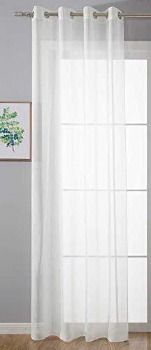 Ösenvorhang Transparent »Uni« Gardine HxB 225x140 cm Weiß Stores Vorhang Ösen Bleibandabschluß Wohnzimmer, 20332-cn