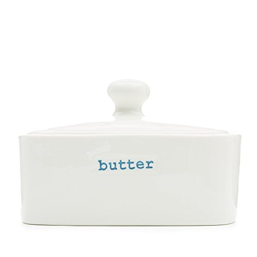 Keith Brymer Jones Word KBJ-0060 Butter Dish - Mantequera con Tapa...