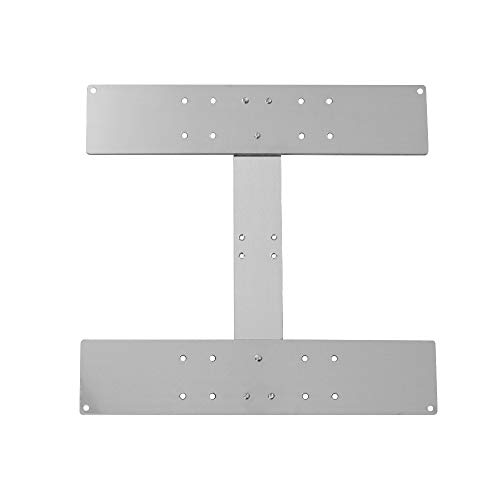 Aibecy Anet Aluminium Alloy Y Carriage Plate Upgrade Placa de placa fija Accesorio de impresora 3D para fijación de la plataforma de calefacción Hotbed Soporte de cama caliente para Anet A8
