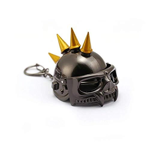 AMITD Schlüsselbund Schlüsselring Playerunknown'S Battlegrounds Pubg Schlüsselbund Big Size Abobo 3D Laser Helm Anhänger Metall Schlüsselanhänger Auto Schlüsselanhänger Spiel Schmuck