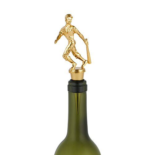 Foster & Rye Baseball Trophy Wine Bottle Stoppers, One Size, Gold