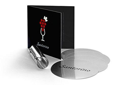Santorino® Wein Disc [5er Packung] Ausgießer für Weinflaschen | Tropffreier Weinausgießer als Weinzubehör in Pappverpackung