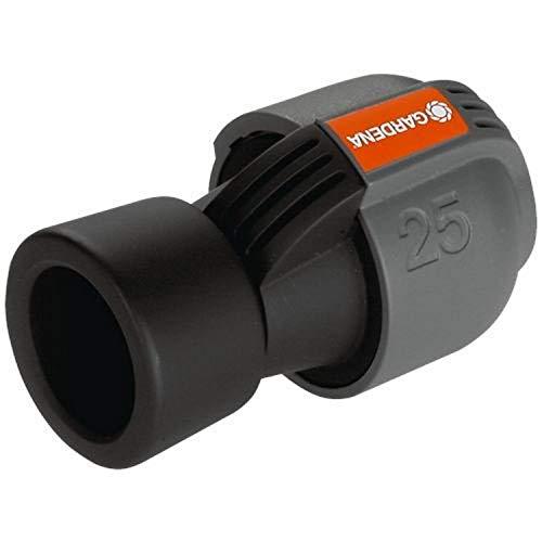 Gardena Sprinklersystem Verbinder: Verbindungsstück für Rohranschluss an Ventilboxen, Pipelines, Spiralschlauchboxen und an Hausinstallation, 25 mm x 1 Zoll-Innengewinde, Quick&Easy (2762-20)