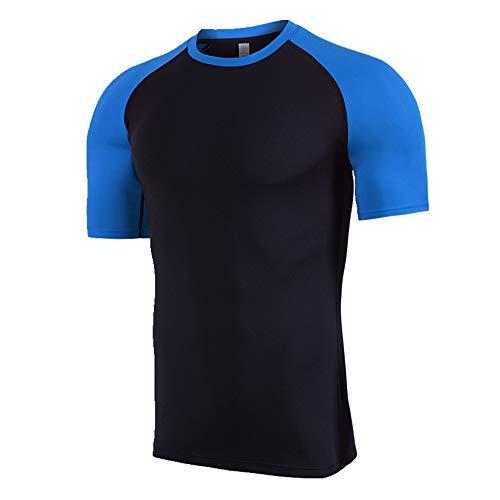 New Sports T-Shirt Herren Laufanzug Sommer Gr. L, Blau 1