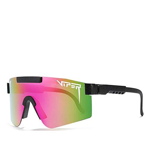 BGRFT Pit Viper Gafas de sol polarizadas de doble ancho con espejo azul Lente Tr90 Marco Uv400 Protección Ciclismo Gafas de sol deportivas C11
