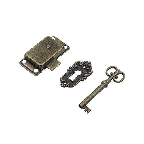 FSSQYLLX Keyed Padlock Durable Portable Retro Style Iron Lock + Key Drawer Cabinet Door Cabinet Wardrobe Lock