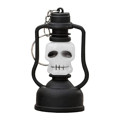 Lalaluka Juego de 2 farolillos de aceite con forma de calabaza para Halloween, con barra de plástico, portátil, luz colgante, A(2 Stück), Talla única