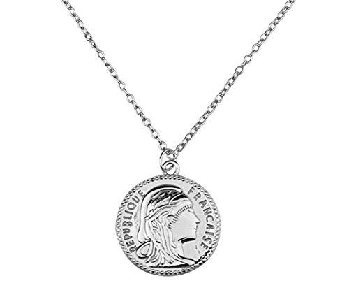 Brandlinger ®  Collar de plata de ley 925 bañada en oro bl