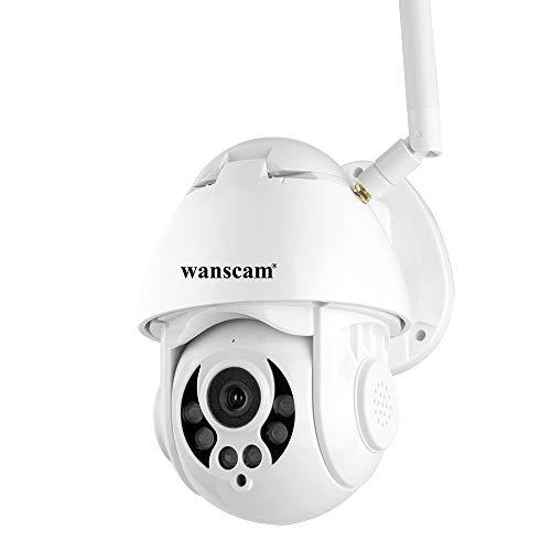 Hdliang Telecamera IP Wireless 1080P POE esterno WiFi Motion Detect PTZ Zoom 4X Zoom bidirezionale P2P CCTV Telecamera di sorveglianza di sicurezza Telecamera dome Scheda SD Wanscam Videocamera