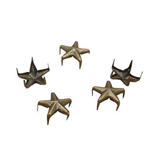 Ecloud Shop® 2 Pieces 100X Apliques Remaches Metal 11mm Estrella Studs Punk...