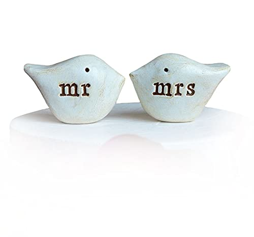 Wedding cake topper. mr and mrs love birds for your cake top decor. Handmade and perfect for rustic weddings