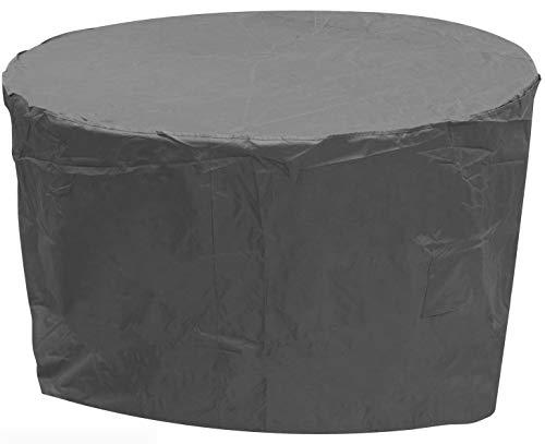 Oxbridge Grey Medium Round Outdoor Garden Patio Furniture Set Cover 1.86m x 1m / 6.2ft x 3.3ft 5 YEAR GUARANTEE