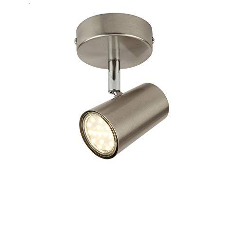 SEESEER LED Deckenleuchte Spotbalken Drehbar, 1-Flammig LED Strahler Deckenlampe Spot,3W GU10 230V IP20 Metall Warmweiß LED Deckenstrahler, Modern Deckenspots für Küche, Wohnzimmer, Schlafzimmer