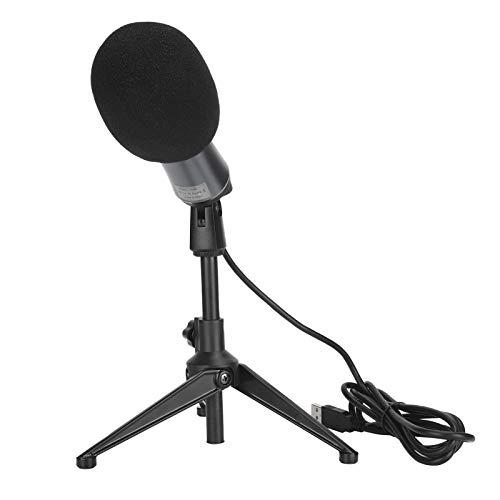 Jopwkuin Micrófono de computadora, micrófono de Juego con trípode para Chat de Voz