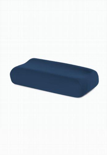 schlafgut Kissen fleXibel Kissenbezug, Woll-Mischgewebe, Marine, 42 x 26 cm