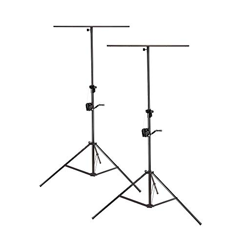 2x Soundsation LSA-300T Wind up Verlichting Stand inc T-Bar Winch DJ Disco Statief