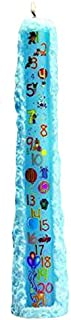 Biedermann & Sons Baby Shower Birthday 1 to 21 Pillar Candle, Light Blue, 15-Inches Tall